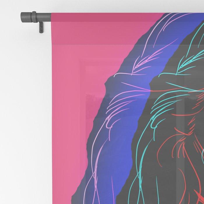 The Neon Demon Sheer Curtain