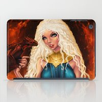 mother of dragons iPad Cases featuring Mother of Dragons by Sonia MS
