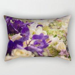Bouquet of flowers, violets Rectangular Pillow