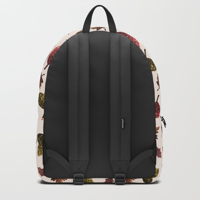 Sparkly leaves fall autumn sparkles pattern Backpack