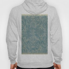 Antique rustic teal damask fabric Hoody