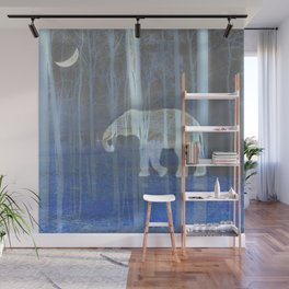 Moonlight with elephant Wall Mural
