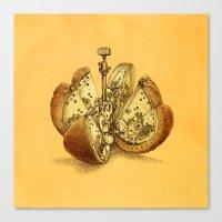 clockwork orange Canvas Prints featuring Steampunk Orange by Eric Fan
