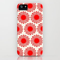 vintage flowers red iPhone (5, 5s) Slim Case