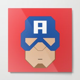 Captain.America Metal Print