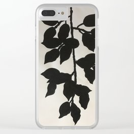 Black Vines Clear iPhone Case