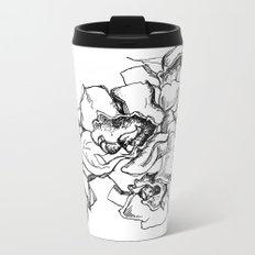 Flowers Line Drawing Metal Travel Mug