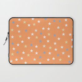 Peach Pastel Background With Stars Laptop Sleeve