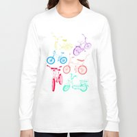 bikes Long Sleeve T-shirts featuring Bikes by WEAREYAWN