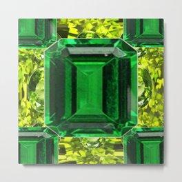 EMERALDS &  LIME GREEN PERIDOT GEMS BIRTHSTONES Metal Print