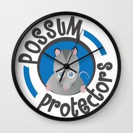 Possum Protectors Wall Clock
