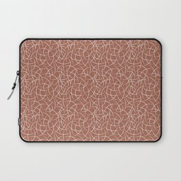 Abstract Crescent Shape Moon Pattern Pairs With Sherwin Williams Color of The Year 2019 Cavern Clay Laptop Sleeve
