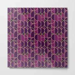Art Deco Morning Dance In Purple Metal Print