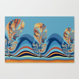 Tree-lined Canvas Print