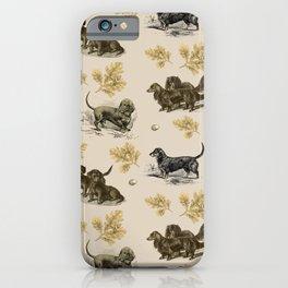 Dachshunds pattern - Beige  iPhone Case