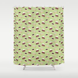 Only cakes 1 (Green) Shower Curtain