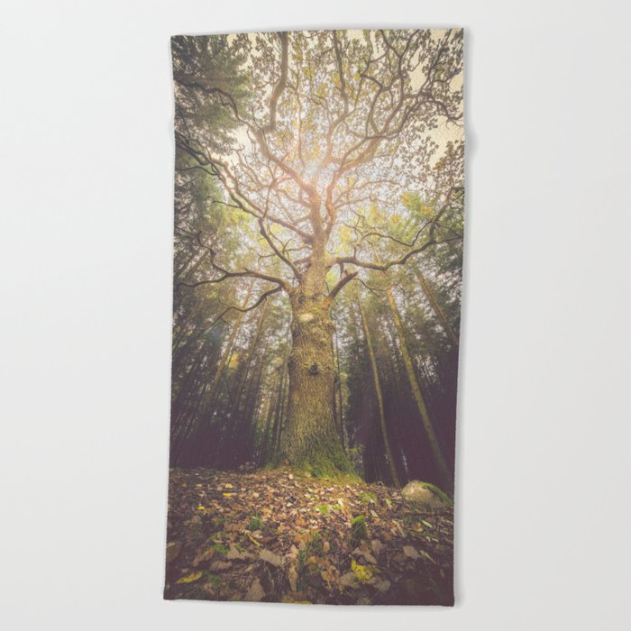 The taller we are Beach Towel
