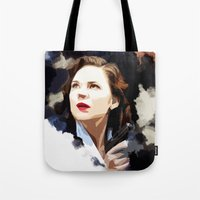 peggy carter Tote Bags featuring Peggy Carter by Ms. Givens