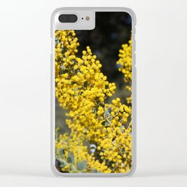 Spring in Yellow Clear iPhone Case