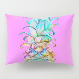 Pink Rainbow Color Splash Pineapple Pillow Sham
