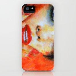 Title: Pastel Portrait - Orange Passion iPhone Case