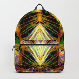 Yellow Bright Rays Fractal Art Backpack