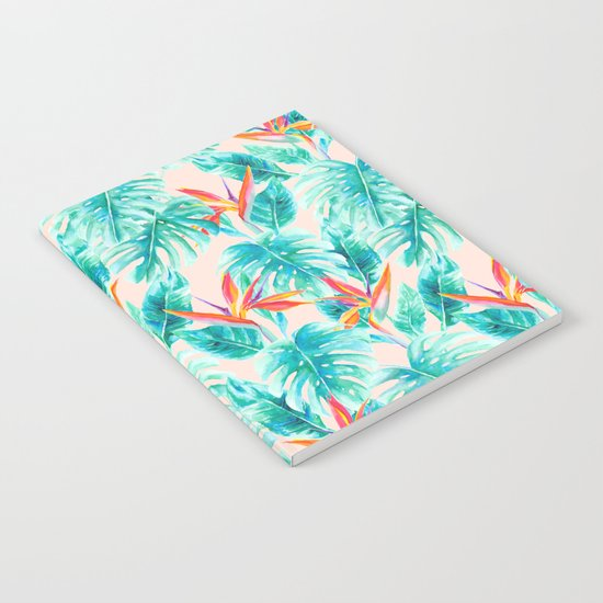 Tropical Paradise Pale Peach Notebook