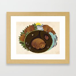 The Life Of A Grizzly Framed Art Print