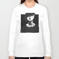 contemporary Long Sleeve T-shirts featuring Contemporary Black and White Collar  by Ben Geiger