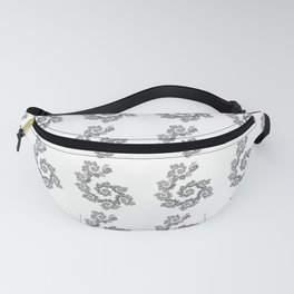 Dancing flowers in black Fanny Pack
