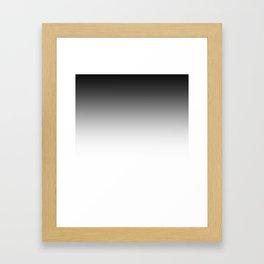 White-black Ombre Framed Art Print
