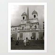 The Spanish Steps Art Print