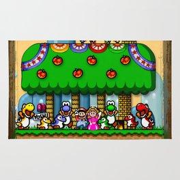 Super Mario World Happy Ending Rug