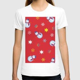 Snowflakes & Snowman_D T-shirt