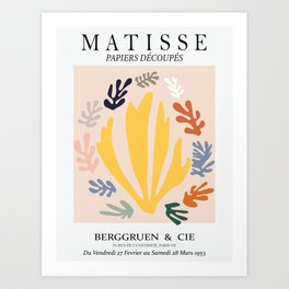 Matisse cutoff - abstract cutoff Disarranged Art Print