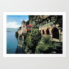 Santa Caterina del Sasso Lake Maggiore Art Print