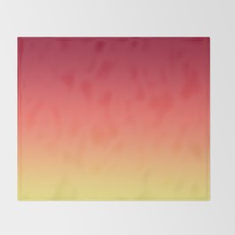 Red Orange Coral Yellow Gradient Ombre Pattern Throw Blanket
