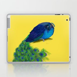 The Beauty That Sleeps - Vertical Peacock Painting Laptop & iPad Skin