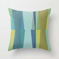 mid century Throw Pillows featuring Mid Century Herringbone 1 by David Andrew Sussman
