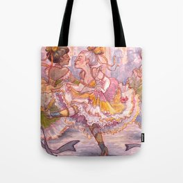Brightly Colored Petticoats and Frills Tote Bag