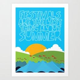 FESTIVALS Art Print