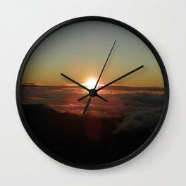 Sunrise from Mt. Haleakala Wall Clock