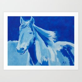 Acrylic painting of a horse Art Print