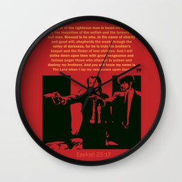 Ezekiel 25:17 Wall Clock
