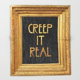 Creep it real Throw Blanket
