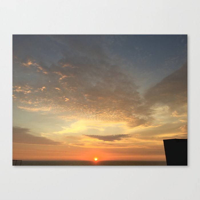 Yellow and Orange Sunset Canvas Print