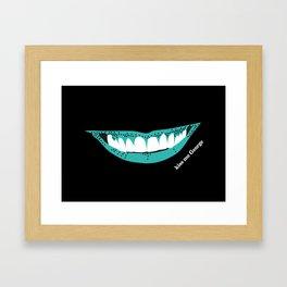 Kiss Me George Framed Art Print