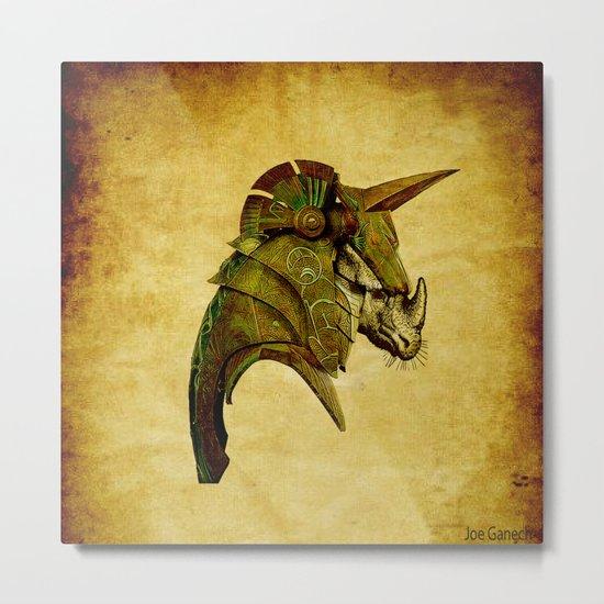 The rhinoceros in armor Metal Print