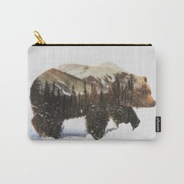 Arctic Grizzly Bear Carry-All Pouch