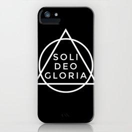THE FIVE SOLAS: SOLI DEO GLORIA iPhone Case